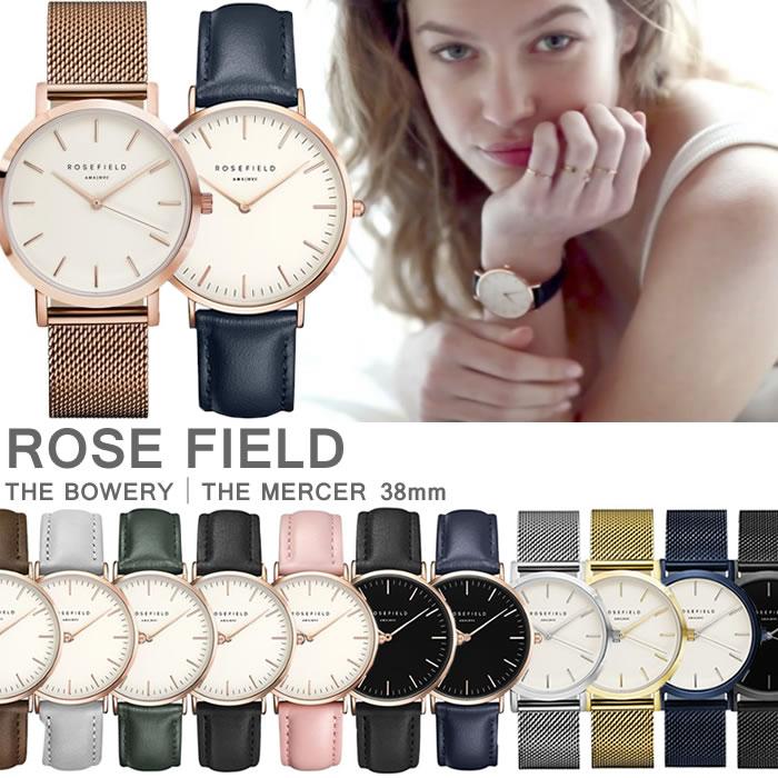 ローズフィールド ROSE FIELD レディース腕時計 アナログ 38mm ユニセックス メンズ お揃い 色違い ペアウォッチ可能 インスタグラム SNS 話題沸騰 人気