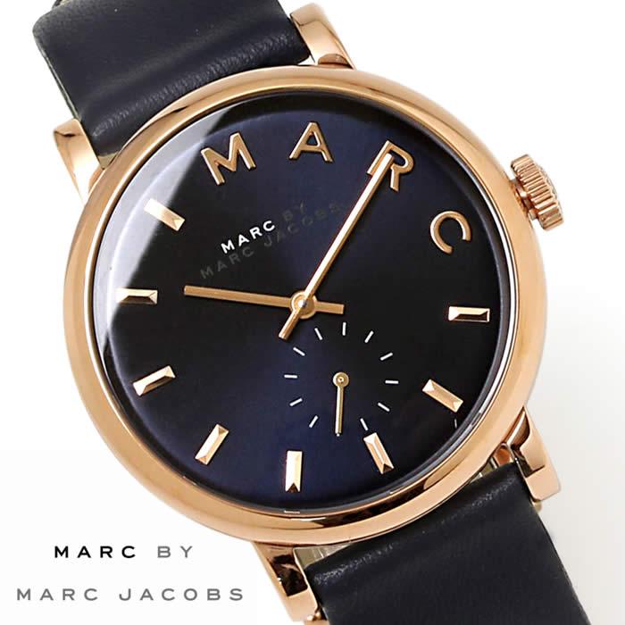 【送料無料】マークバイ マークジェイコブス 腕時計 ベイカー 36mm レディース MBM1329 革ベルト 激安 スモールセコンド レザー Marc by Marc Jacobs Baker ネイビー ブルー ローズゴールド 時計 とけい うでどけい watch tokei udedokei ブランド