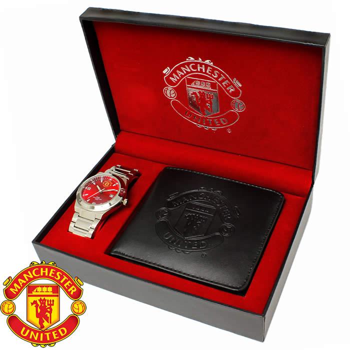フットボールウォッチ ギフトボックス 腕時計 マンチェスター・ユナイテッドFC 短財布 折財布 オフィシャル メンズ Manchester United マンU GA5749SET ブランド さいふ サイフ 財布 うでどけい とけい【プレゼント/ギフト】【人気】