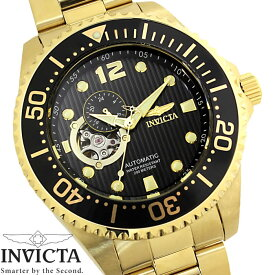 e116f52cc8 【送料無料】腕時計 メンズ INVICTA インビクタ グランドダイバー 自動巻き 15391 ブラック ゴールド Grand