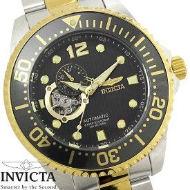 f972a8fd12 【送料無料】腕時計 メンズ INVICTA インビクタ グランドダイバー 自動巻き 15405 グレー ゴールド シルバー