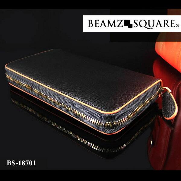 ビームス スクエア BEAMZ SQUARE メンズ 財布 ラウンドファスナー レザー 高級 BS-18701 バレンタイン プレゼント ラッピング無料可能 おしゃれ かっこいい モテ 大人 激安 安い 有名 大人気 ファッション 小物 流行 レザー