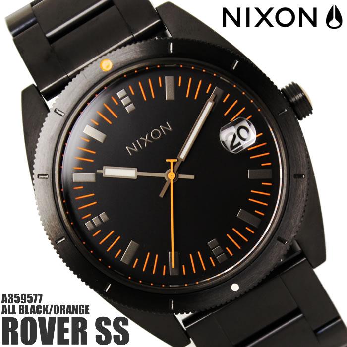 【送料無料】ニクソン ROVER SS A359577 NIXON 腕時計 メンズ ローバーSS ブランド オールブラック オレンジ 黒 シンプル オールブラック/オレンジ プレゼント ギフト 人気 特価 激安 WATCH うでどけい【腕時計】【ニクソン/NIXON】