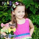 ベビー&キッズ /ヘアアクセサリー「MANDY」マンディノンスリップ/クリップ3色セットリボンセット「10%OFFクーポン…