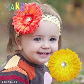 ヘアアクセサリーmandyガーベラフラワー&ヘアバンドセット【お誕生日】1歳:女【お誕生日】2歳:女【お誕生日】3歳:女