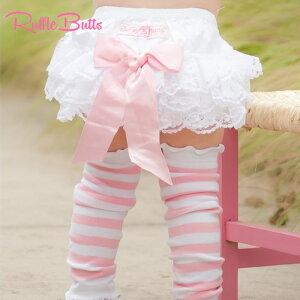 【RuffleButts】ラッフルバッツレース素材 ブルマおむつカバー オーバーパンツWhite Lace Woven RuffleButt 【【お誕生日】1歳:女【お誕生日】2歳:女