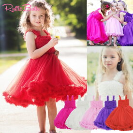 ベビー&キッズドレスRuffleButts/ラッフルバッツペティドレス/Princess Petti Dressセレモニードレス/パーティーバースデー/記念日/お誕生日/結婚式/女の子