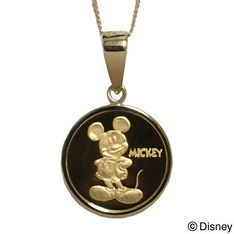 ミッキー/ペンダント 純金製ディズニーメダル