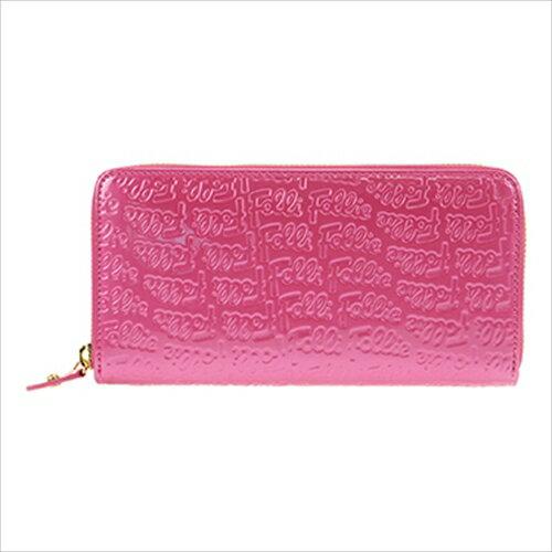 フォリフォリ Folli Follie ラウンドファスナー長財布 WA0L024SP ピンク