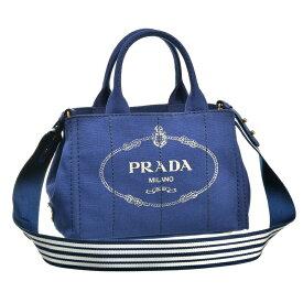 プラダ PRADA 2WAYハンドバッグ CANAPA-ROO 1BG439 BLUETTE/TALCO
