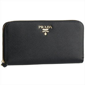プラダ PRADA 長財布 SAFFIANO METAL ORO 1ML506 NERO