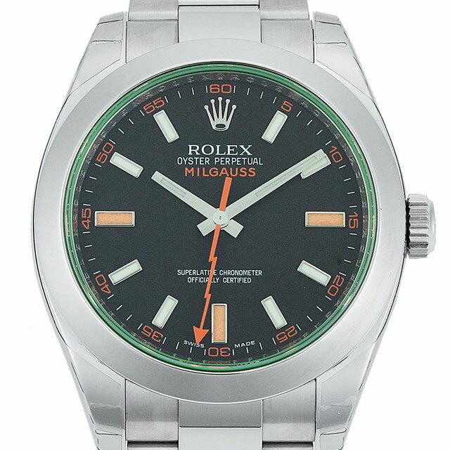 【19日20時〜全品ポイント5倍】ロレックス ROLEX ミルガウス メンズ 腕時計 ブラック 116400GV