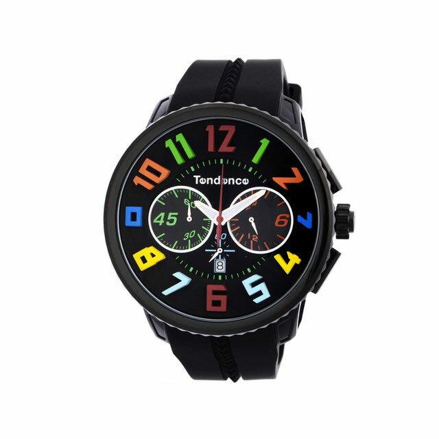 テンデンス TENDENCE 腕時計 ユニセックス ガリバーラウンドレインボー ブラック TY460610