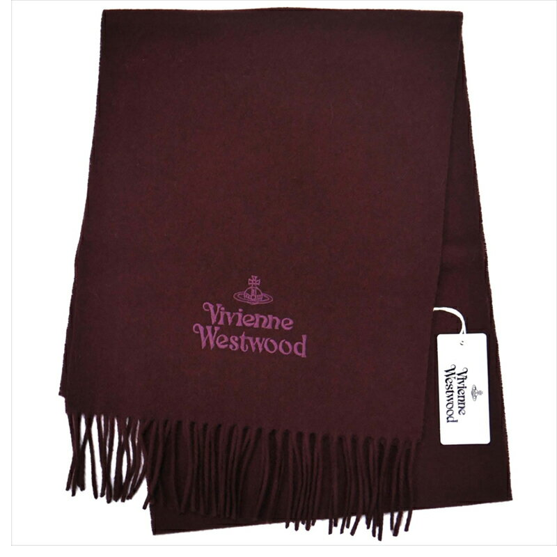 ヴィヴィアンウエストウッド Vivienne Westwood マフラー ボルドー 81030007-10081-FP I401 BOR