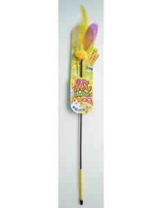 ペッツルート カシャカシャ じゃれる お花 猫 おもちゃ 猫じゃらし 羽 日本製 人気 猫用 ねこじゃらし 音が鳴る オモチャ ねこ じゃらし