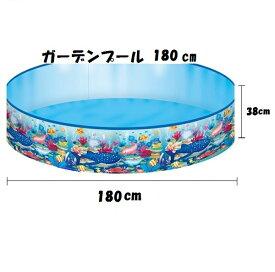 【イガラシ】【空気入れ不要】ガーデンプール【180cm】 水遊び ビニール プール POOL 小さい 子供用