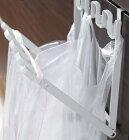 レジ袋ハンガーtower(タワー)PLASTICBAGHANGER引っ掛け折り畳みごみ箱ホワイト/ブラック【RCPmara1207】