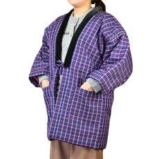 久留米格子はんてん女性用フリー日本製