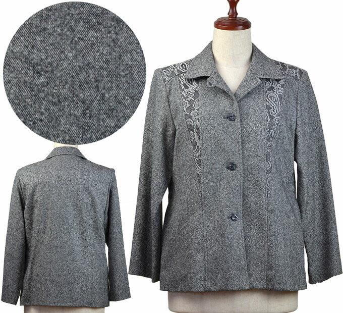 11号ウール混ジャケット シニアファッション 冬 ミセス