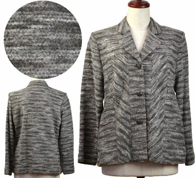 13号ウール混ジャケットコート シニアファッション 冬 ミセス