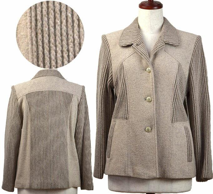 11号ウール混生地切り替えコート シニアファッション 冬 ミセス