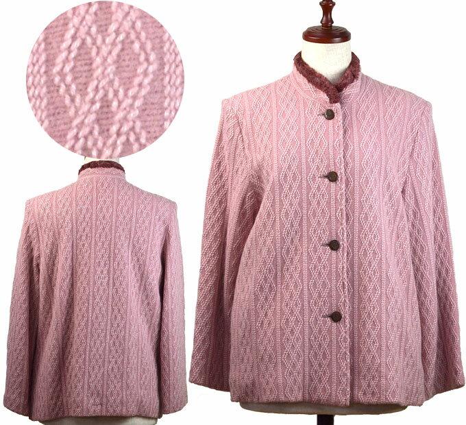 13号ウール混ニットコート シニアファッション 冬 ミセス