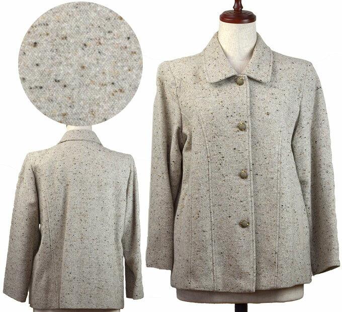 11号ウール混ジャケットコート シニアファッション 冬 ミセス