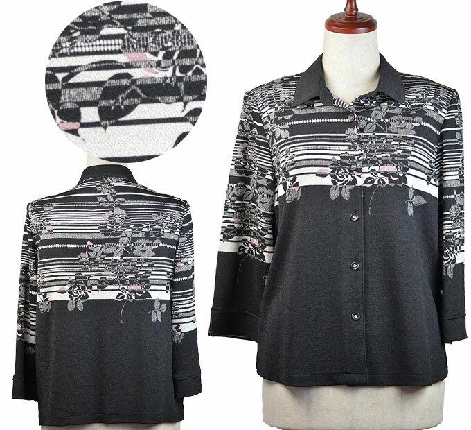 ちりめんジャケットブラウス シニアファッション 春 秋 ミセス シニア向け婦人服