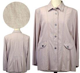 シンプルジャケットLサイズ シニアファッション 春 ミセス 間物 シニア向け婦人服