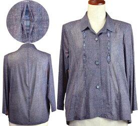 腰曲がり対応ジャケット13号 シニアファッション 夏 おばあちゃん ゆったり  シニア向け婦人服