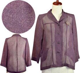 腰曲がり対応ジャケット11号 夏 日よけ シニアファッション 高齢者 おばあちゃん 間物 シニア向け婦人服