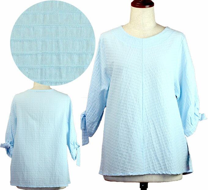 5分袖Tシャツブラウス フリー シニアファッション 春 ミセス  韓国製