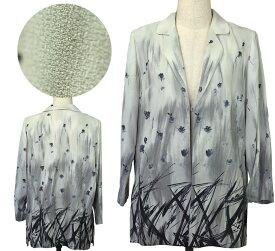 フリーサイズ大柄ロングジャケット シニアファッション 春 ミセス 間物 高齢者 シニア向け婦人服