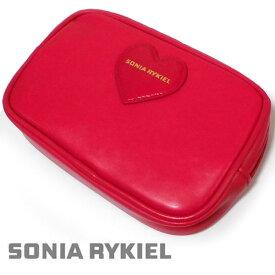 SONIA RYKIEL(ソニア・リキエル)新品 ポーチ レッド レディス 合皮 箱なし