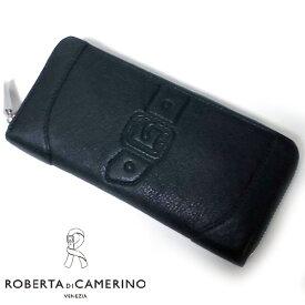 ロベルタ ディ カメリーノ 箱付き 牛革 レザー カーラ ラウンドファスナー長財布 グリーン レディス Roberta di Camerino