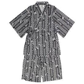 甚平 男の子 子供 ジュニア 綿100% 日本製生地 うちわ柄 じんべい スーツ上下 祭 甚平 部屋着 寝まき パジャマ 子供甚平