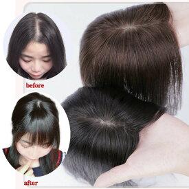 超高級リアル皮膚3D構造つむじ付きウィッグ(※人毛商品) ウィッグ 自然 人毛 部分ウィッグ かつら 前髪ウィッグ シースルー つむじ付 手植え シースルーバング 人毛ウィッグ