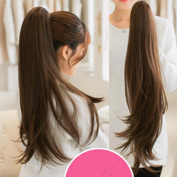 【ポニーテール ウィッグ】長さ3種類!クリップorリボンタイプストレート・ポニーテール かつら wig ウイッグ ポニーテール ウィッグ エクステ エクステンション