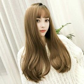 フルウィッグ ロング カール 艶やか毛先ワンカールロング ウイッグ かつら wig ウィッグ 自然 耐熱仕様