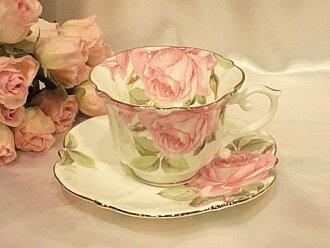 Rose Cup & saucer: ピンクローザ