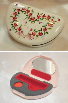 ☆ ☆ Shining Deco cute! hand-painted rose seal case (with cinnabar ink)