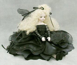 Wakatsuki 馬林兒童花仙子娃娃 ! elfinflory︰ 諾埃爾 (黑色) 濃湯童話花仙子娃娃禮物慶祝紀念品陶器