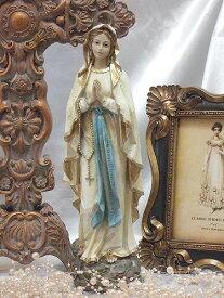 ホワイトガウン マリア像(30センチ)マリア 置物 エンジェル オブジェ 聖母 ルルド おすすめ ギフト プレゼント 人気