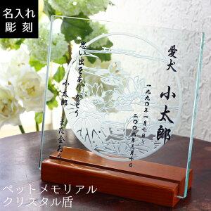 【 ペットメモリアル 卓上 名入れ盾 】 位牌 御仏前「ありがとう」感謝の気持ちを込めて ペット ガラス