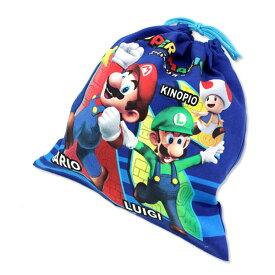 (楽天スーパーセール)スーパーマリオ 巾着M 通園・通学に便利な巾着。 スーパーマリオ グッズ