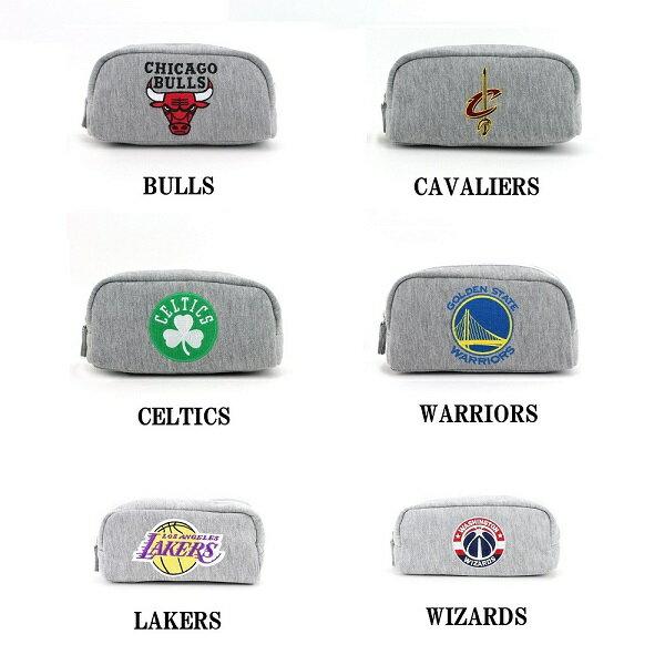 [ゆうパケット可]NBA 角型ポーチ グッズ バスケットボール スポーツ ブランド CAVALIERS BULLS KNICKS NETS LAKERS WARRIORS NBA-003