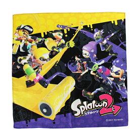 [ゆうパケット可]スプラトゥーン2 ハンカチ (イエロー&パープル柄) キャラクター ゲーム イカ キッズ グッズ 子供 男の子 入園 入学 Nintendo 任天堂 ニンテンドウ SPT-602