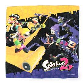 [ゆうパケット可]スプラトゥーン2 ランチクロス (イエロー&パープル柄) 給食 ナフキン キャラクター ゲーム イカ キッズ グッズ 子供 入園 入学 Nintendo 任天堂 ニンテンドウ SPT-605