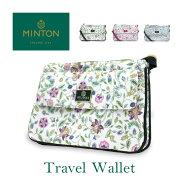 ミントンMINTONハドンホールトラベルウォレット旅行用財布バッググッズ女性花柄大人MIT-W001