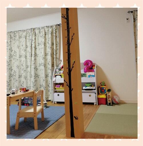 【キッズデザイン賞】木の身長計ウォールステッカー身長計木200cm柱細い出産祝い名入れシンプル子ども身長シール